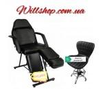 Кресло-кушетка для педикюра модель СН-240.+стул мастера A-871 черный